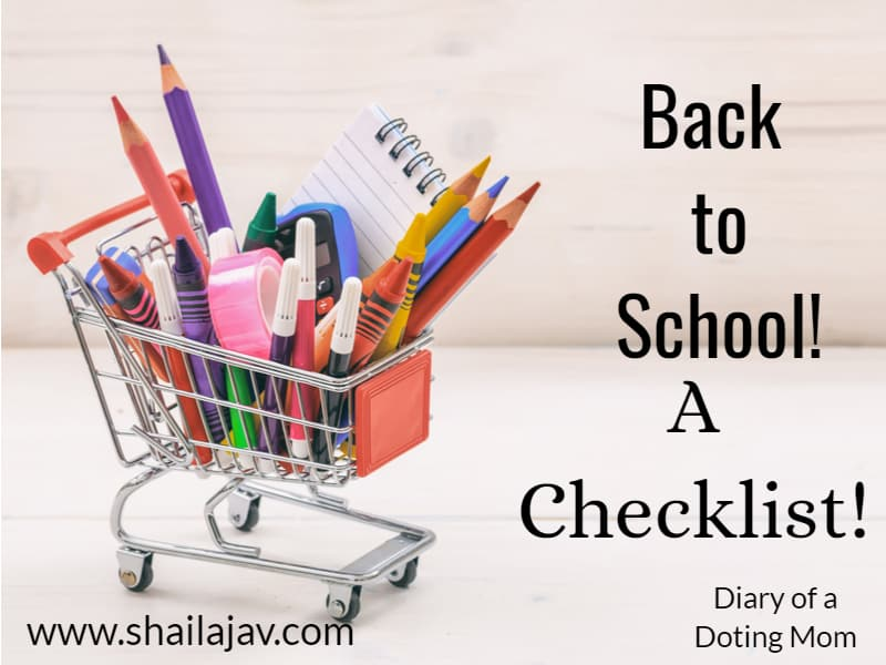 Back to school: A tiny trolley with school and craft supplies