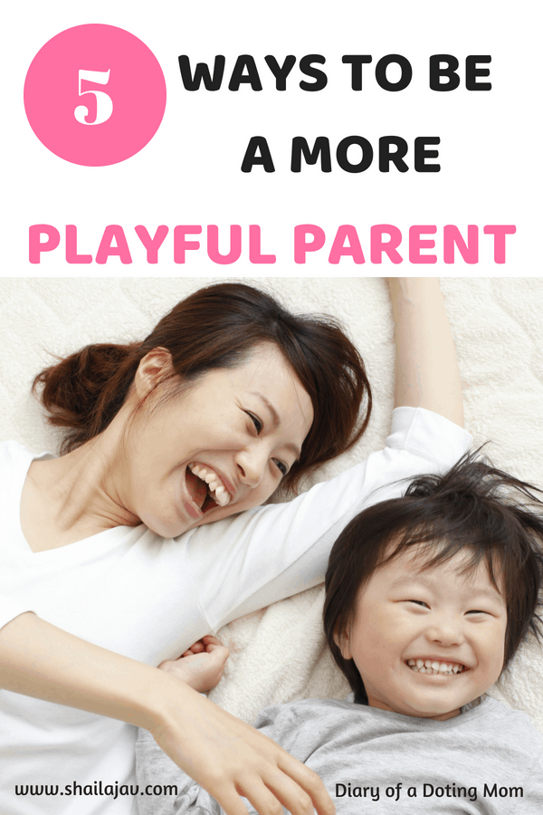 Mom and kid tickling and laughing