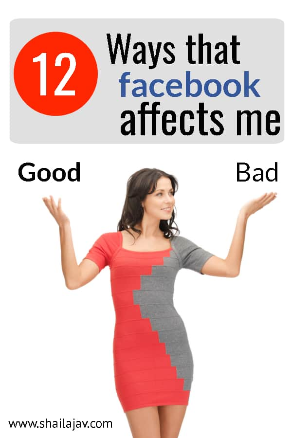 Woman holding up hands indicating options. Weighing the pros and cons of Facebook and how Facebook Affects me as a blogger