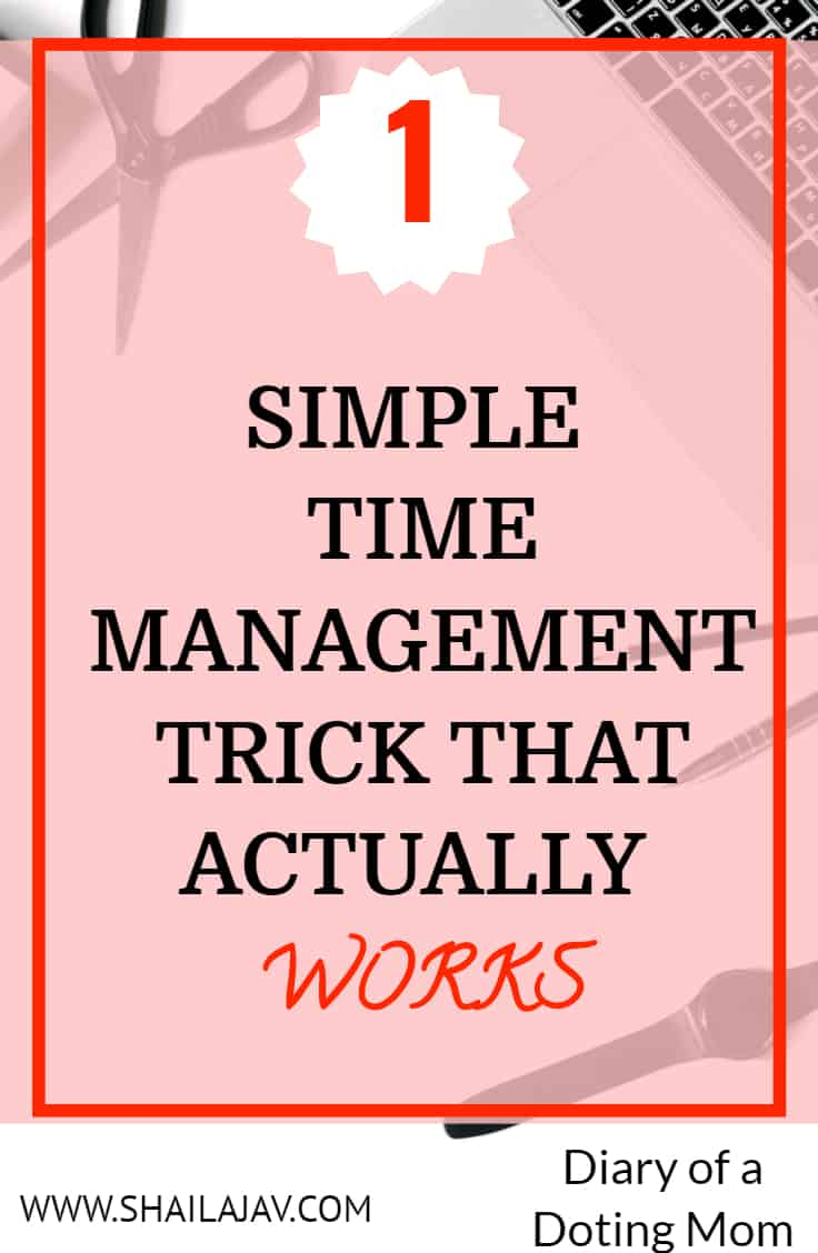 Time management Tip on Pink Background with white star
