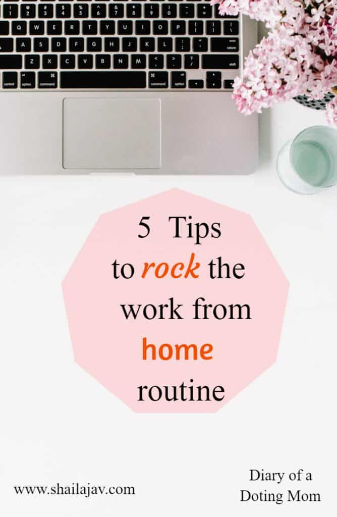 Are you working from home, #moms and #entrepreneurs? Do you find yourself getting stressed? Here are my 5 simple #tips to help you manage this routine effectively.