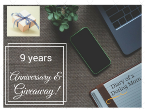 Anniversary_Giveaway_Shailaja_Diary of a doting mom