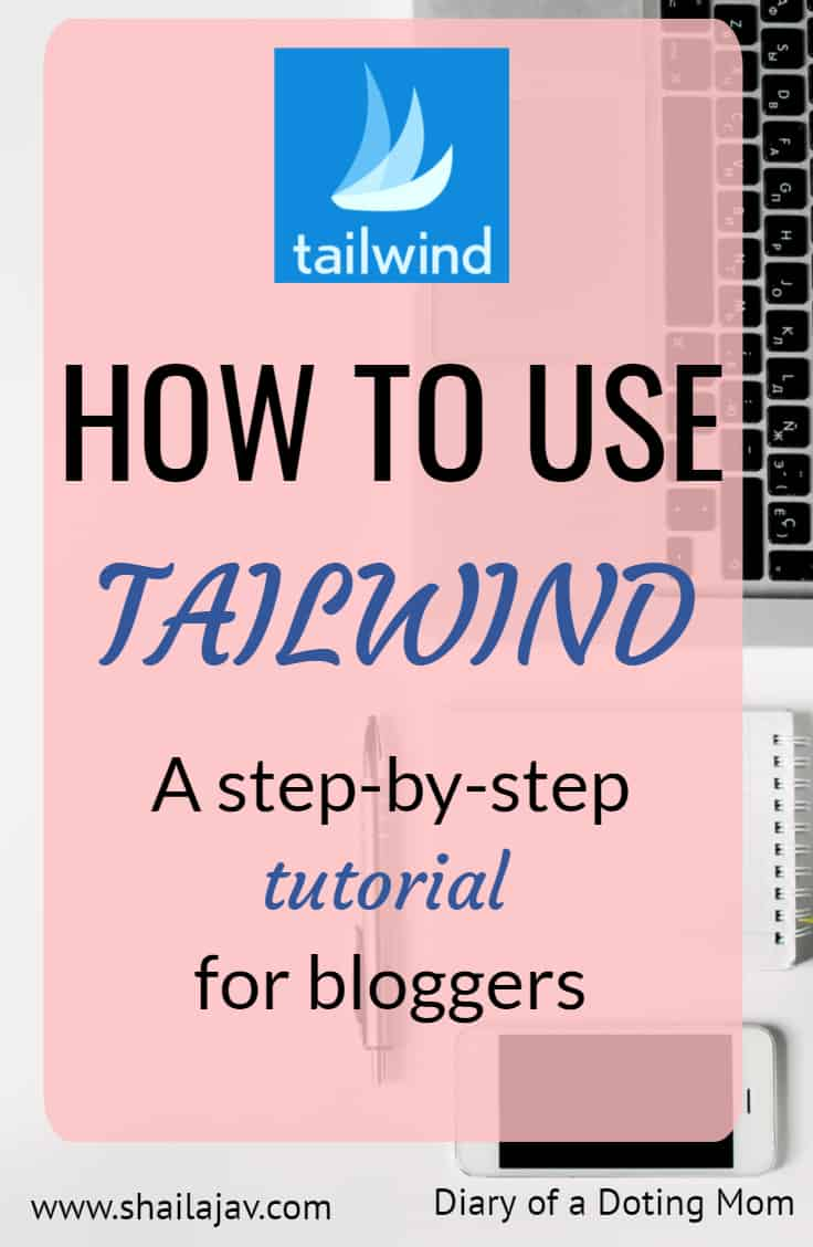 Tailwind Tutorial Image Pink Overlay with Tailwind Blue logo