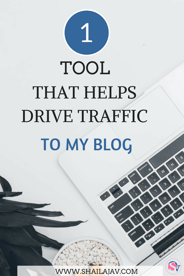 How to drive blog traffic using Tailwind. Flat lay of computer and plant against a white background