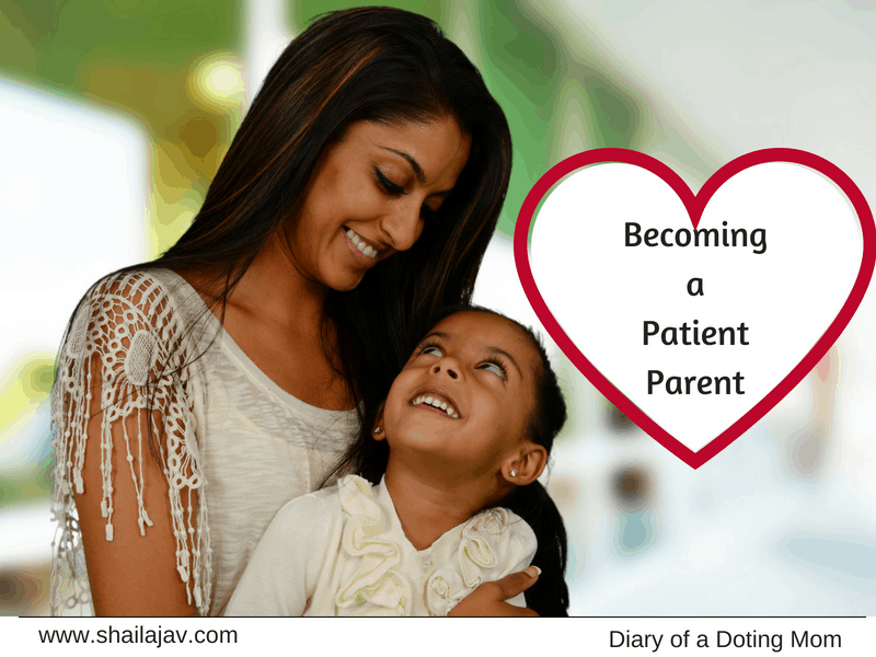 Mom and child smiling at each other. Becoming a patient parent and the joys it brings