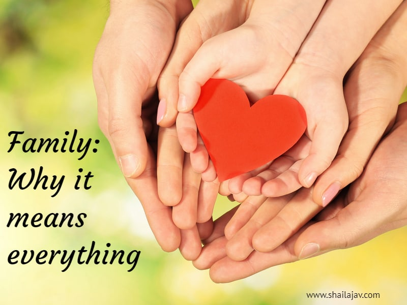 Family: The magical glue that holds it all together. Have a loving family? You're more blessed than you know.
