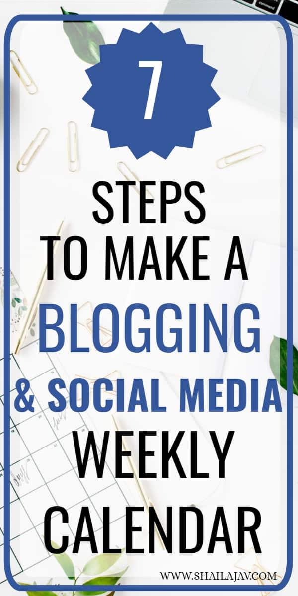 Blog and social media calendar tips