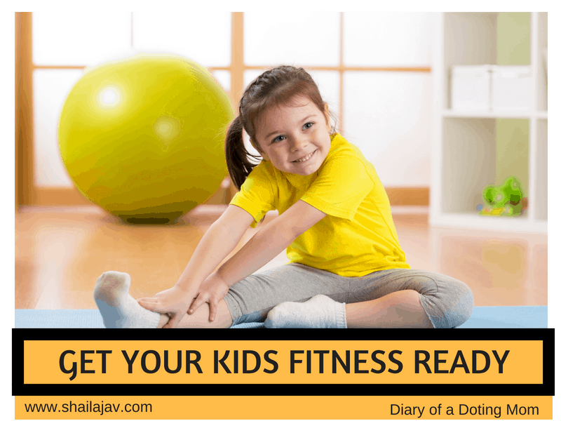 Kid stretching on a Yoga Mat. Fitness for Kids