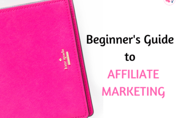 Image shows a pink Kate Spade handbag. Text includes: Affiliate Marketing Tips for Beginners and Bloggers.