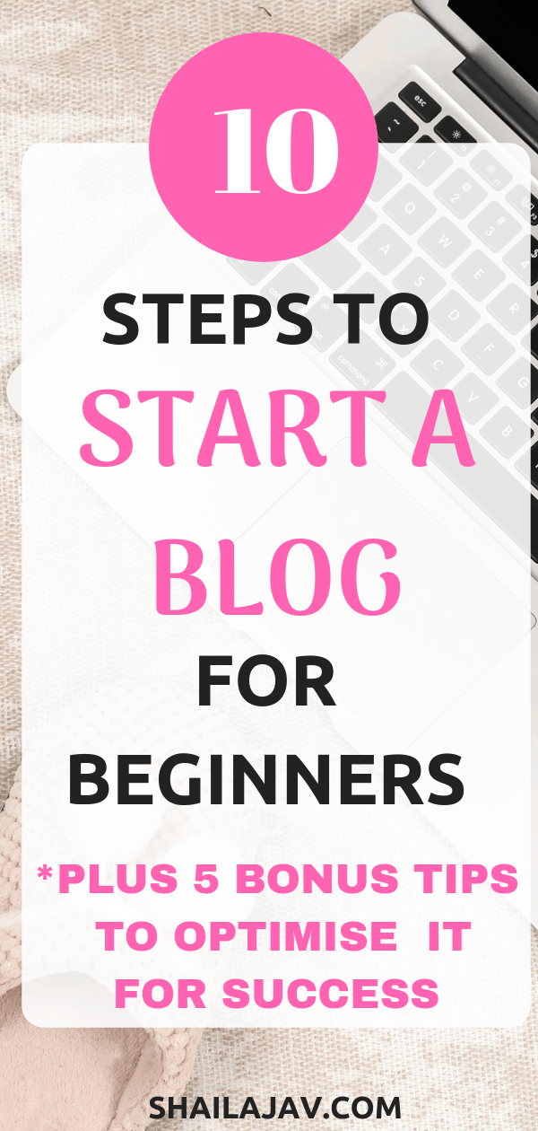 Thinking about starting a blog? Here is a checklist with 10 tips for beginners. Plus, 5 blog ideas to optimize your blog for success as a blogger.  Learn how to start a blog with these beginner blogging tips. This is part of the 'Plan your blog' series on my blog. #Shailajav #BloggingTips #BlogIdeas #StartABlog