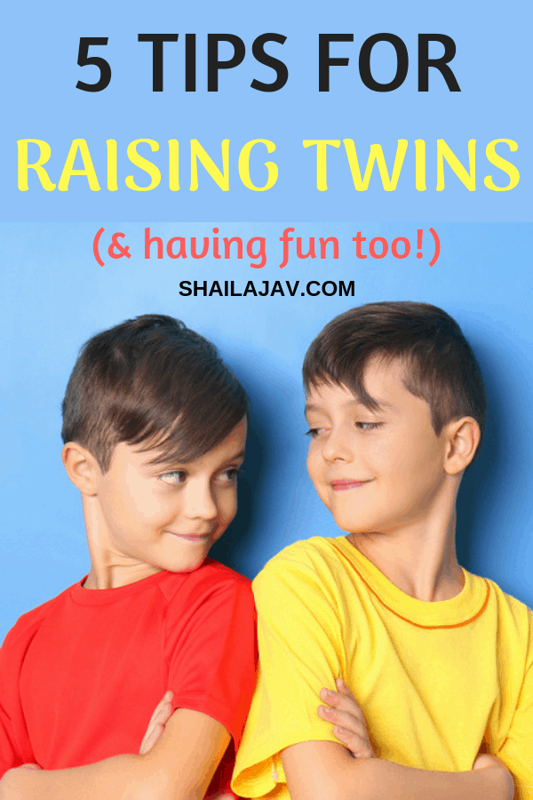 Raising twins can be a hair-raising experience. But with some practical and positive parenting tips, this can actually be fun. Hear it straight from the mom of twins. #PositiveParenting #Twins #Shailajav