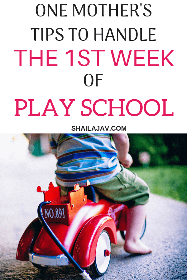 Sending your child to school for the first time? Nervous? The child's first day at school or play school can be pretty stressful. This is how my first week as a parent sending her child to preschool played out. Read to know how I fared. #Shailajav #PositiveParenting #School