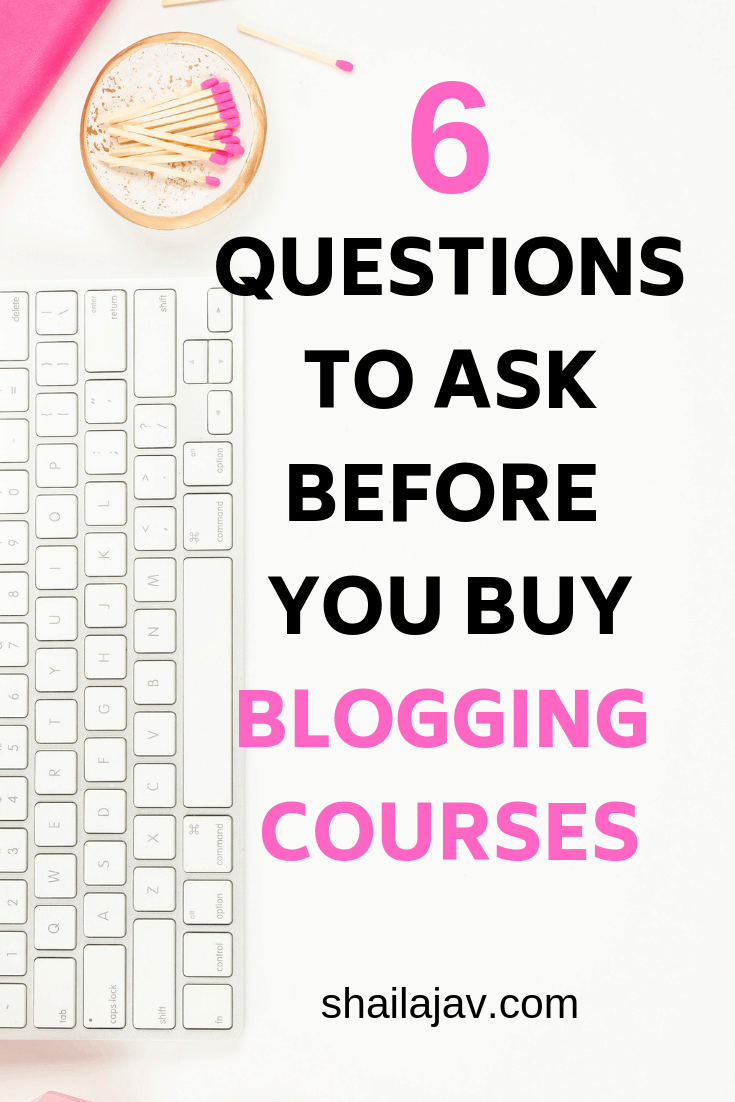 Blogging courses: Yes or no? There are a few things to keep in mind before you spend money on a blogging course. I lay out my honest answers in this post. From budget to reviews, these are things you must keep in mind. #Blogging #Courses #StartABlog