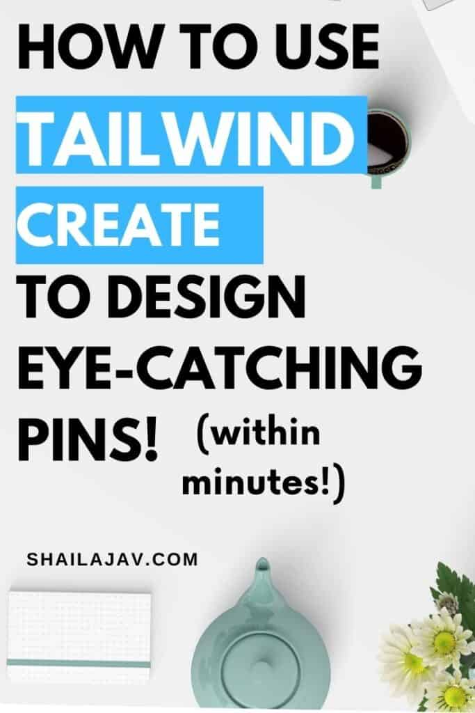 Tea cup, flowers, a planner and a keyboard on a desk. Tailwind Create and how it can help you design gorgeous pins within minutes