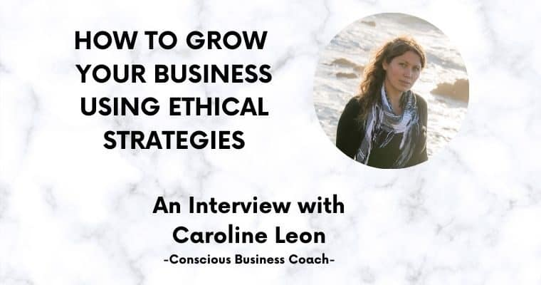 Image of Caroline Leon in an interview about growing your business using ethical strategies
